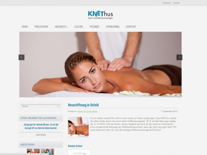 Shooting: Wellnessmassagen Knethus